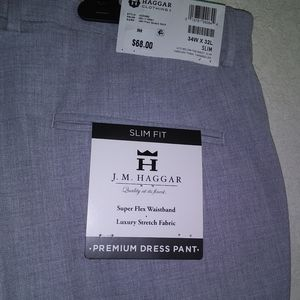 J.M Haggar, Grey, trousers, men's, 34Wx 32L